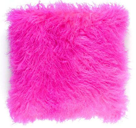 Mongolian Lamb Pillow Decorating Pink Pillows Pink