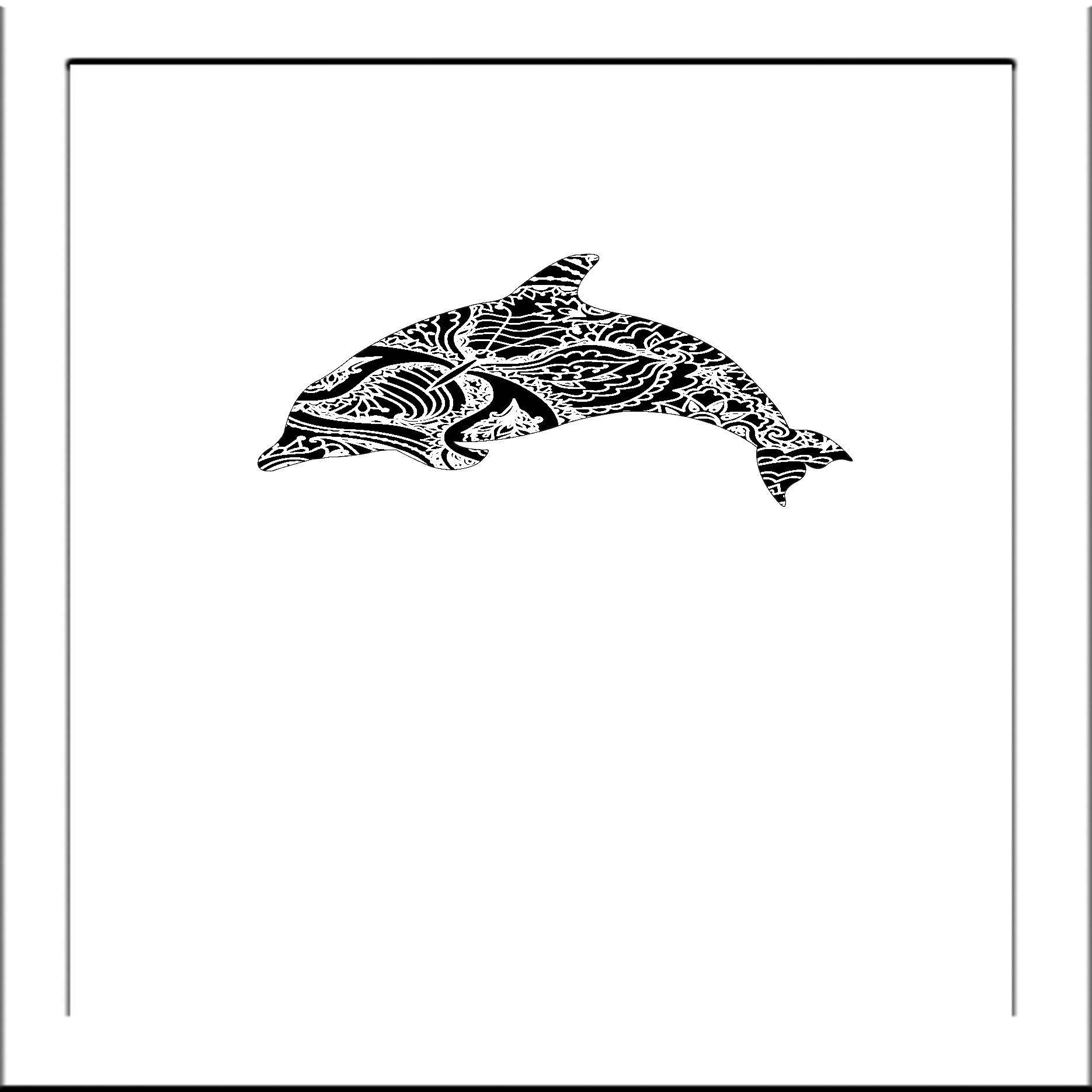 Dolphin Papercut Template Fish - Svg Paper Cut Templates Stencil ...