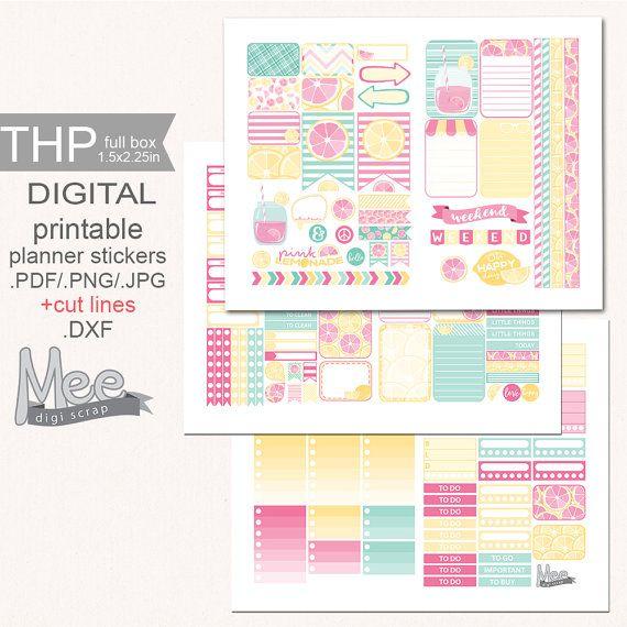 Summer stickers printable The Happy planner by MeeDigiScrap