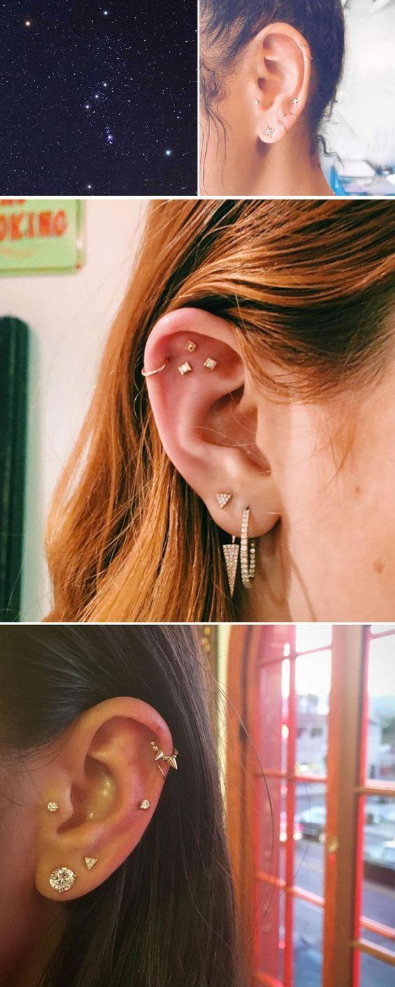 Piercing ideas for girls  ear piercing ideas cute  Piercings  Pinterest  Ear piercings