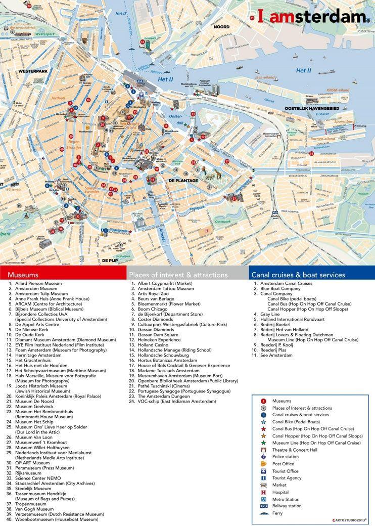 Amsterdam Tourist Attractions Map Amsterdam Tourist Amsterdam Tourist Attractions Amsterdam Attractions
