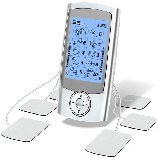 Rechargeable Tens Unit Muscle Stimulator Independent Control A B Channel Evolutional 10 Therapy Mode Tens Ems Machine With Large Mode Therapie Unites