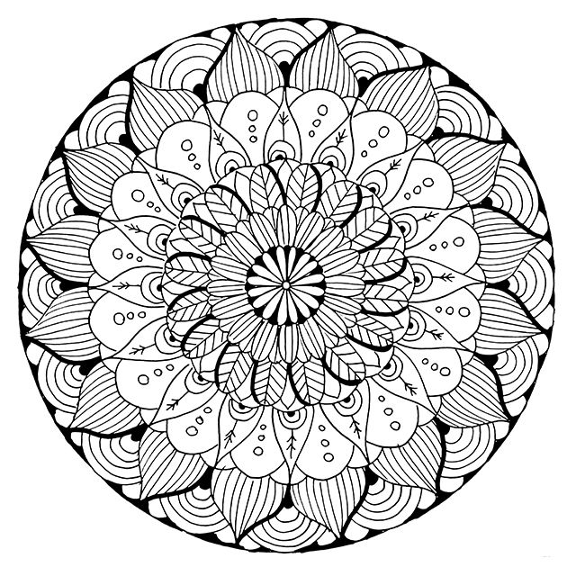 alisa burke mandala coloring page printable adults animal flower holiday