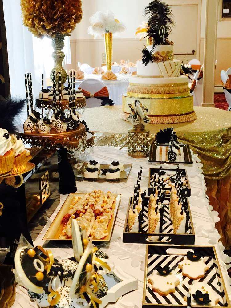 Great Gatsby Quincea 241 Era Party Ideas Dessert Tables On