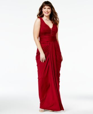 City Chic Trendy Plus Size Ruched Gown | macys.com | Plus ...