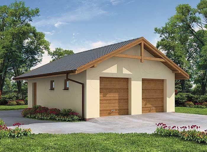 Projekt domu G1a garaż dwustanowiskowy z pomieszczeniem gospodarczym