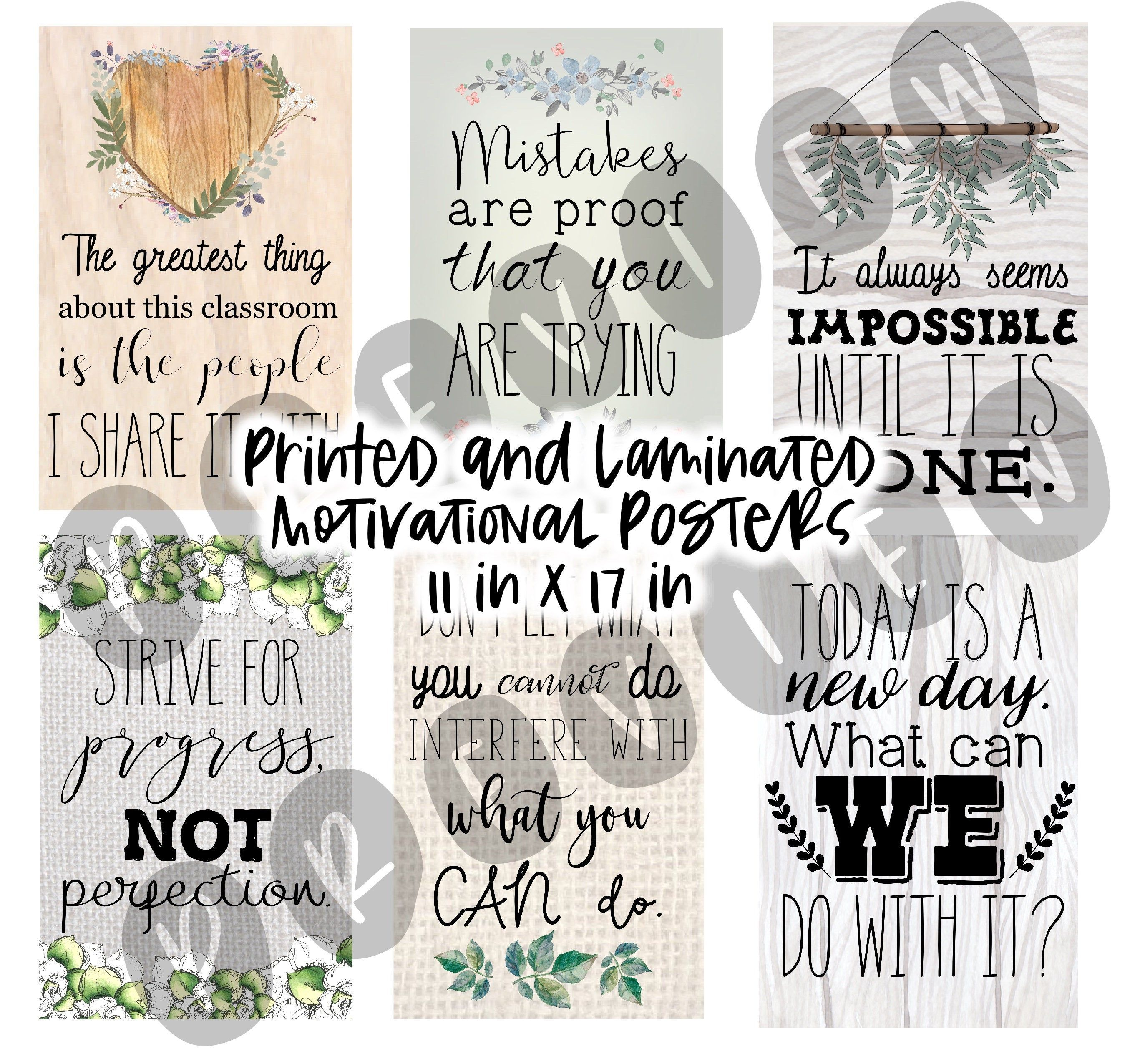 Farmhouse Rustic Classroom Theme Motivational Posters Anchor Charts 11 X 17 Printed And Laminated In 2020 Classroom Themes Math Poster Anchor Charts