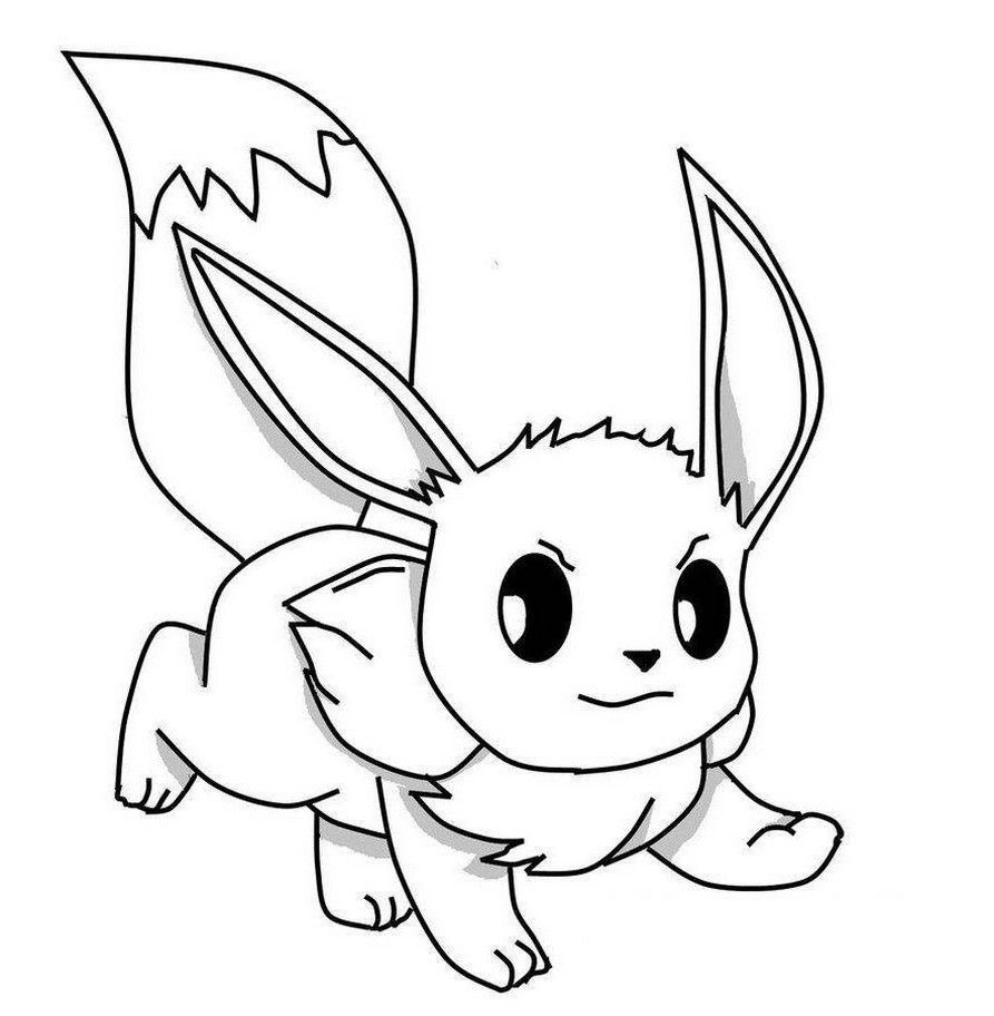 Pokemon Eevee Coloring Pages Printable Pokemon Coloring Pokemon Coloring Sheets Cartoon Coloring Pages