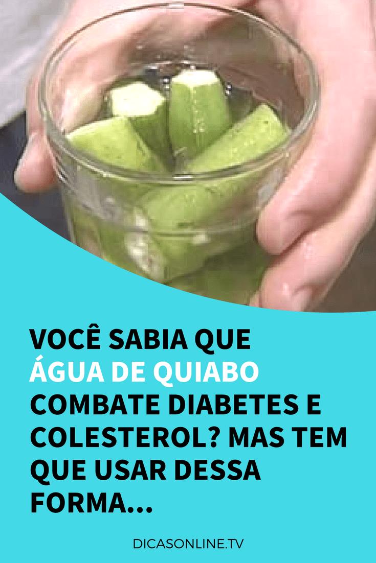 quiabo para o diabetes