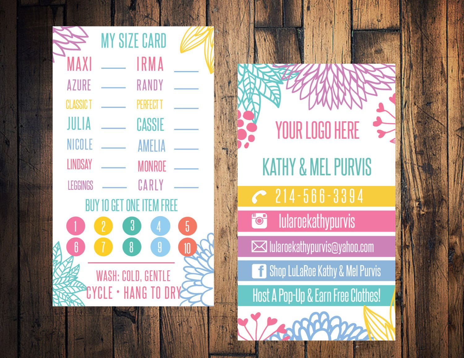 Floral punch card business size card clothing style card business floral punch card business size card clothing style card business card clothing reheart Images
