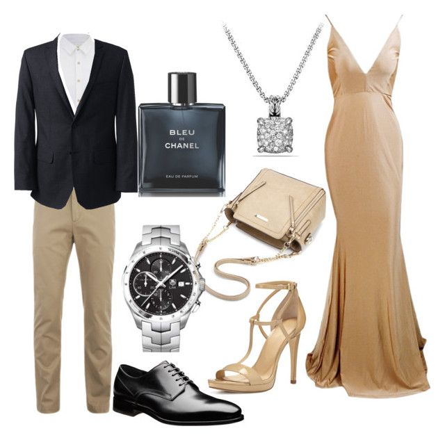"""""""dress to impress"""" by cheetaqua ❤ liked on Polyvore featuring Lacoste, Lands' End, Scotch & Soda, MICHAEL Michael Kors, David Yurman, TAG Heuer and Chanel"""