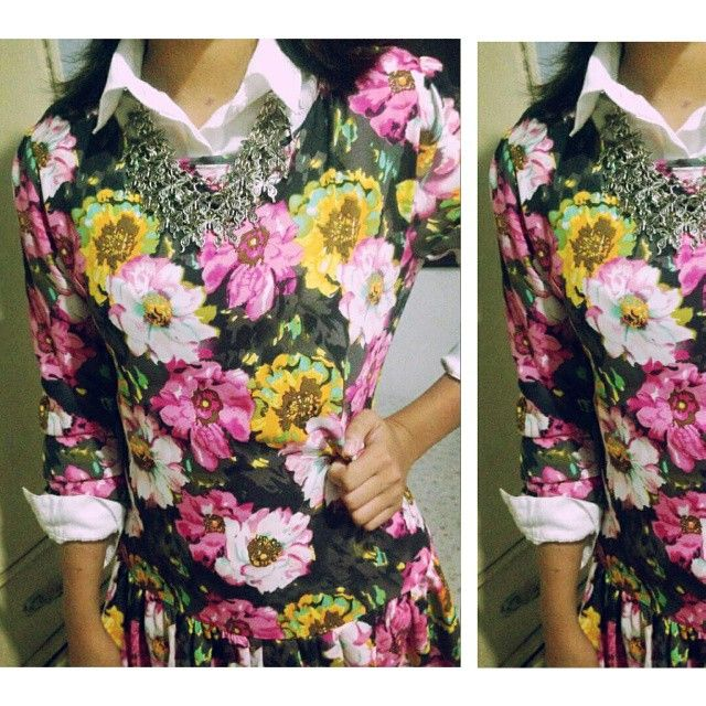 Butterflies and flowers. #aboutalook #whatiwear #doppelu #ootdpinoy #pilipinasootd #floral #whattowear