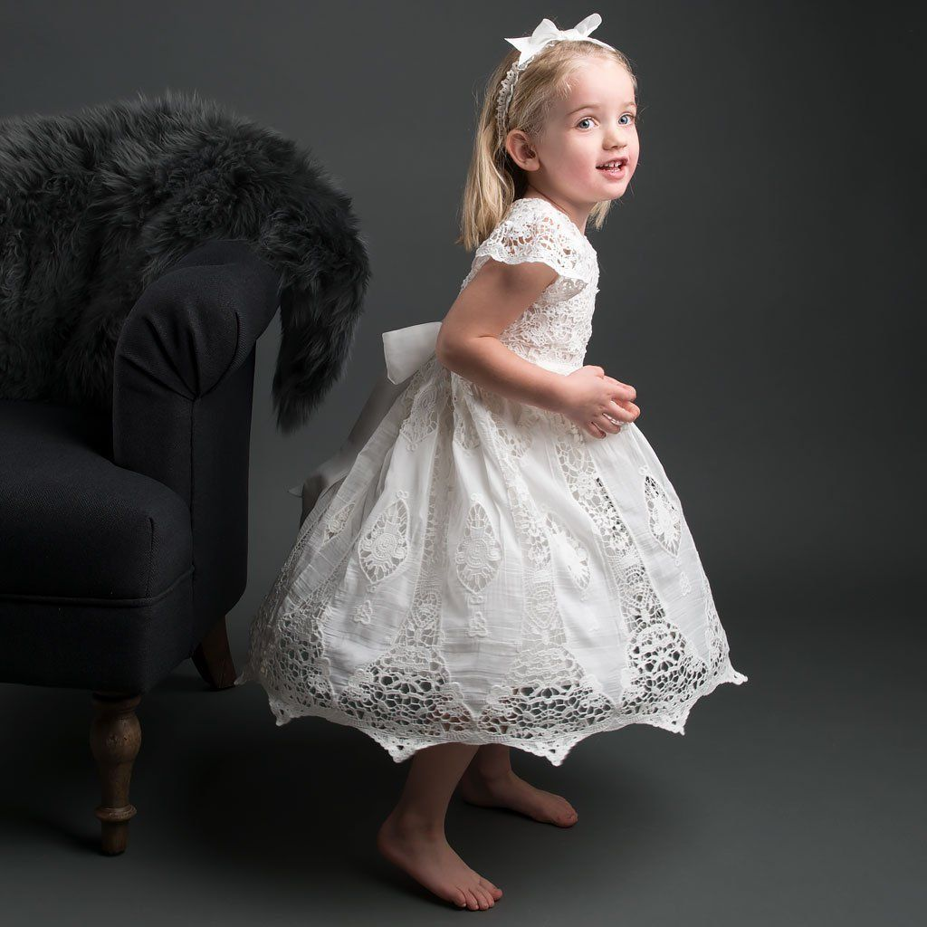 Grace Ivory Christening Dress Headband Size 4 5t Only Girls Christening Dress Toddler Flower Girl Dresses Christening Dress Designer Flower Girl Dresses [ 1024 x 1024 Pixel ]