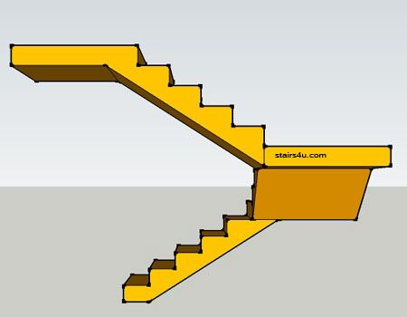 Best Right Elevation View Of U Design Staircase With Double 400 x 300