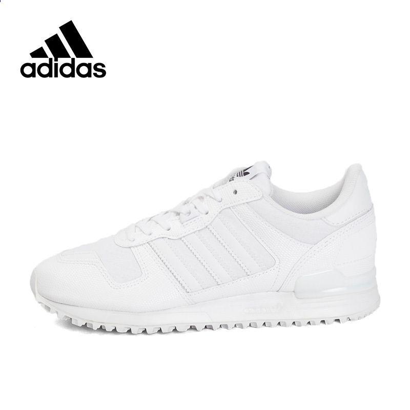 Adidas Originals Білі жіночі кросівки Дитячі тренери Класичні шнурки з  низькою бавовняною тканиною Adidas Women Sports 1813274fd494a