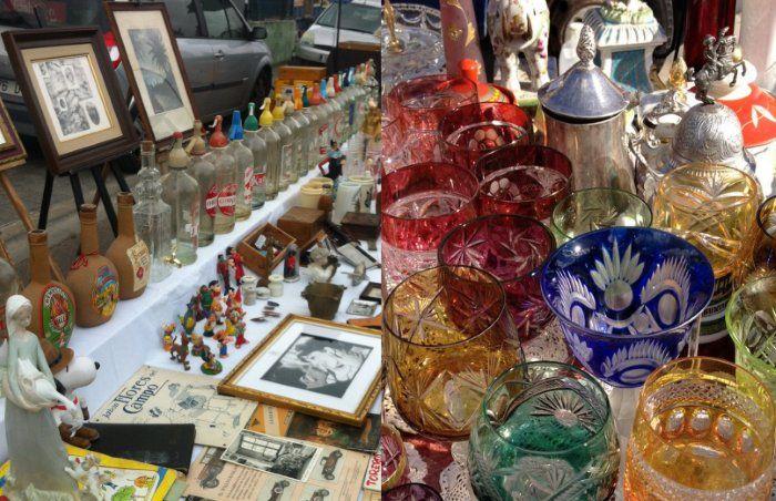 Loppmarknaden i Consell. Varje söndag förmiddag