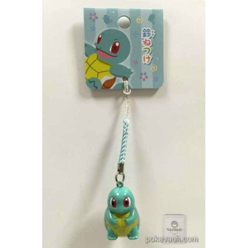Pokemon Center 2016 Japanese Pattern Campaign Squirtle Mobile Phone Strap Bell Charm
