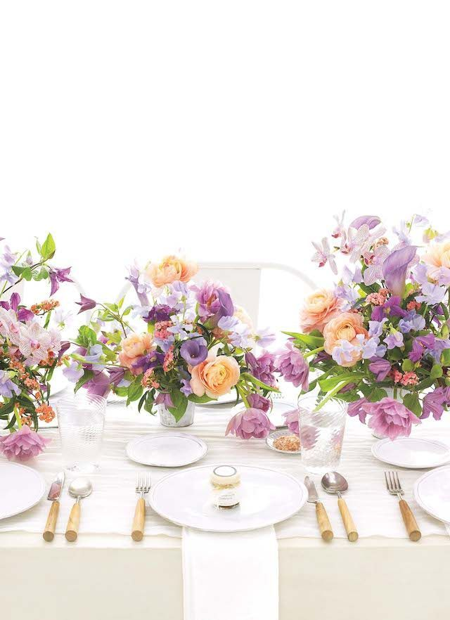 peach and lavender centerpiece summer pastels in 2019 peach rh pinterest com