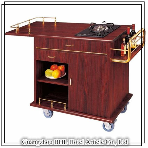 Food Warmer Below Oven ~ Restaurant cooking supplies dinning cart wooden hotel food