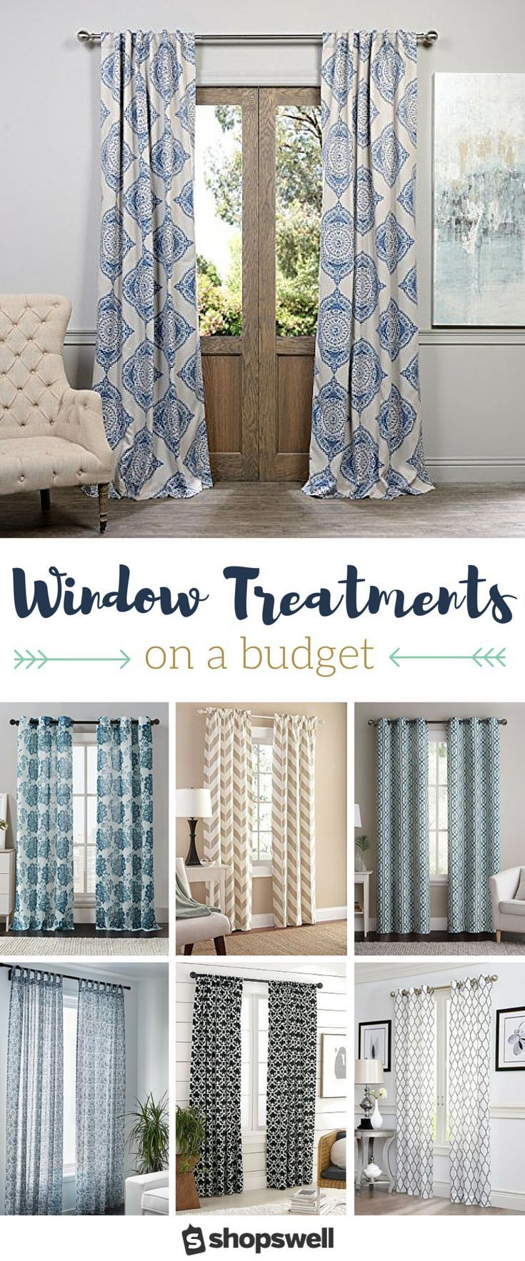 living room window valance ideas%0A Curtains on a Budget     Gorgeous Window Panels Under