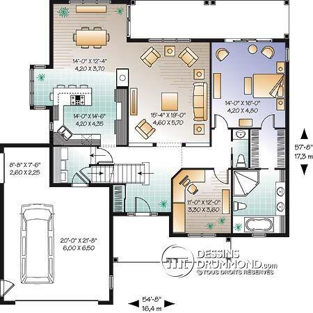 Détail du plan de Maison unifamiliale W3246-V1 Construction - plan de maison design