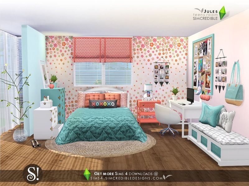 Bedroom Jules By Simcredible Sims 4 Cc Mobel Wohnung Zimmer