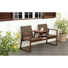 Pleasant Jysk Ca Brent Duo Bench Misc Hardwood Furniture Short Links Chair Design For Home Short Linksinfo