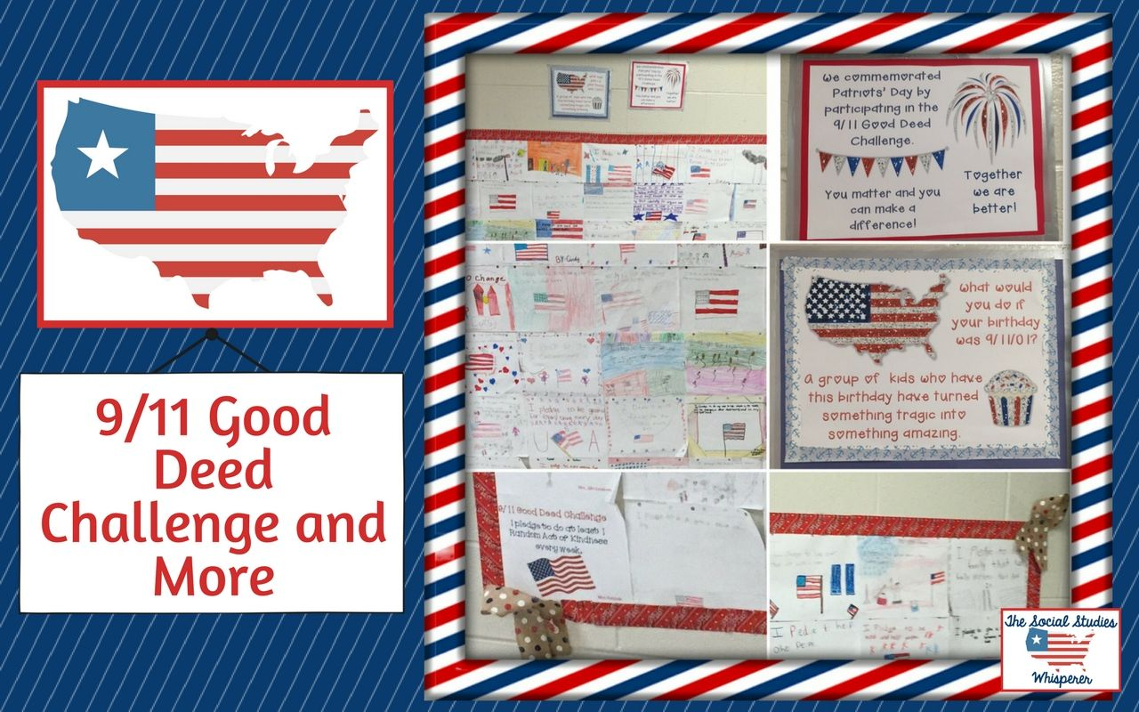 Using A Good Deed Challenge To Commemorate September 11th