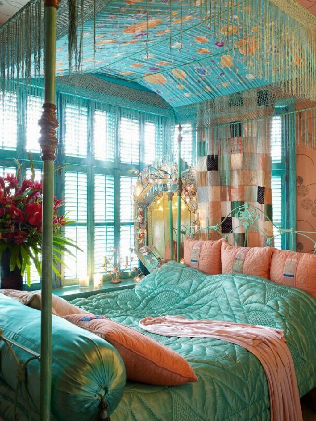 redecorating bedroom%0A Brilliant Chic Bohemian Bedroom Providing Comfortable Yet Unique Appearance  Also Bohemian Bedroom