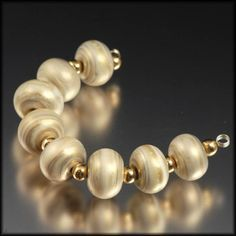 Desert Silk - Mini Spacers - Handmade Lampwork Beads by Judith Billig, SRA on Etsy, $16.00