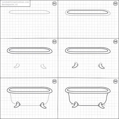 How To Draw A Bathtub. | Drawing | Pinterest | Dessin Étape Par