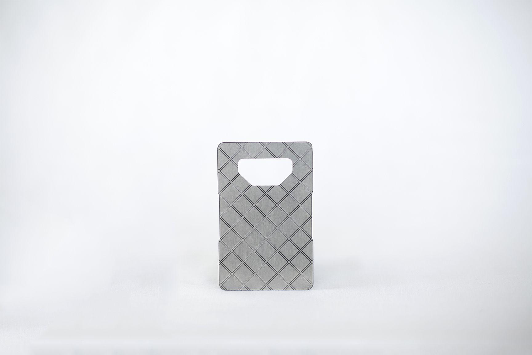 Metal Grey With Design Metal Wallet Credit Card Wallet