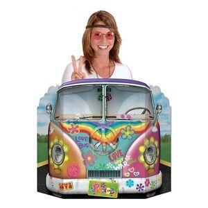GROOVY-60s-Peace-Sign-VW-HIPPIE-LOVE-BUS-PHOTO-PROP-Decoration