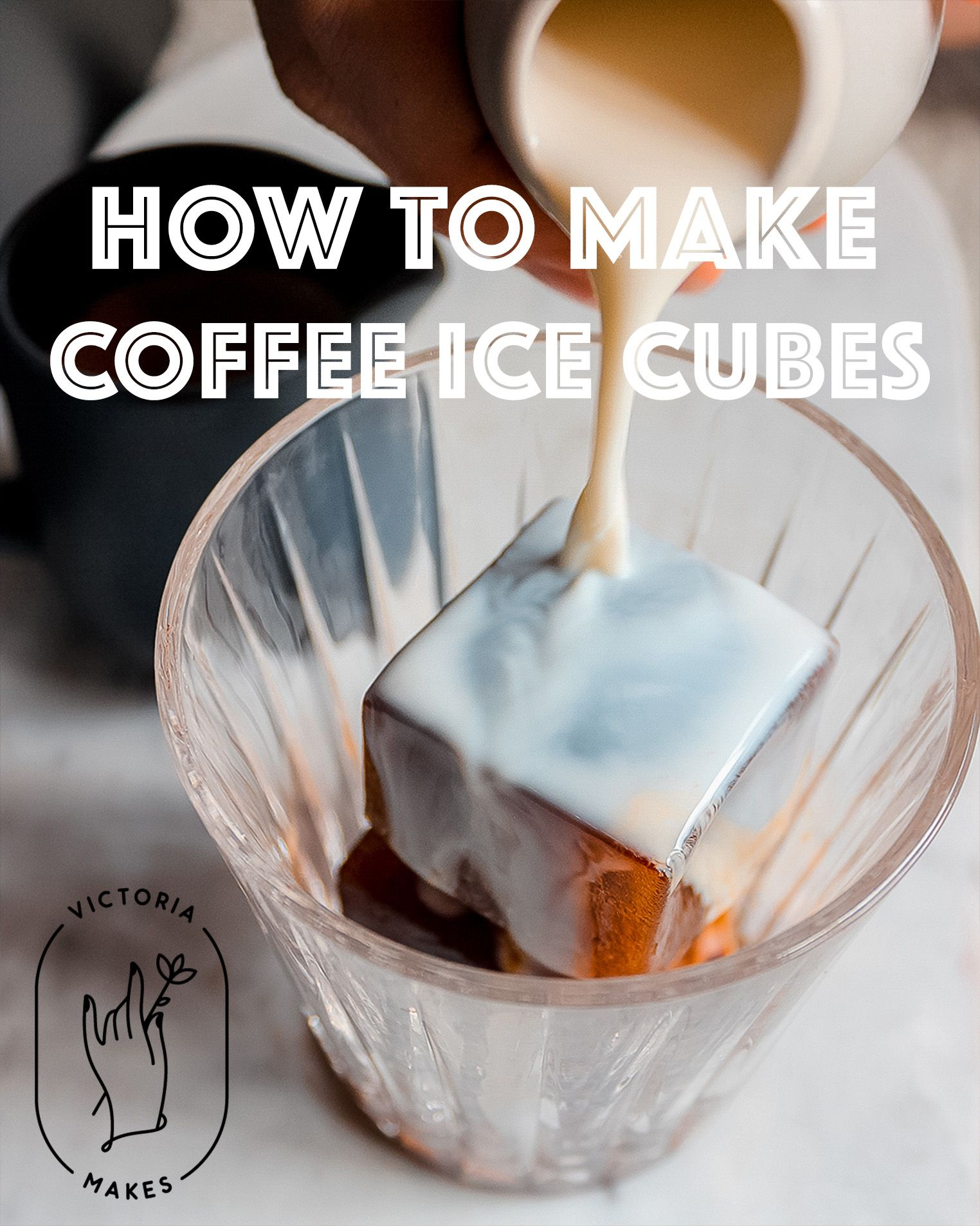 up your iced coffee game with coffee ice cubes no more diluted rh pinterest com