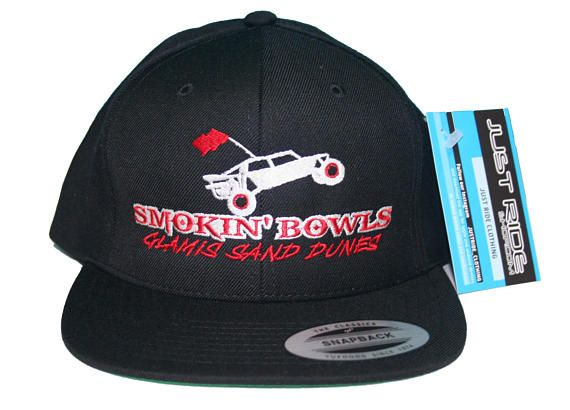 31a7acea572 Glamis Sand Dunes Smokin Bowls Hat Just Ride Flat Bill Snapback Cap ...