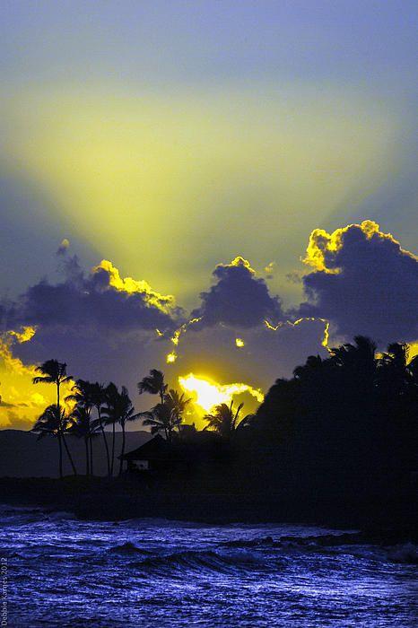 Kauai sunset; photo by Debbie Karnes