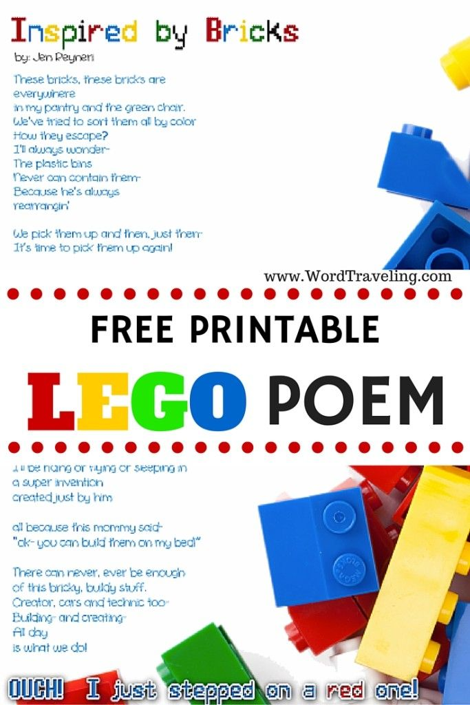inspired by the bricks a lego stop action and poem word