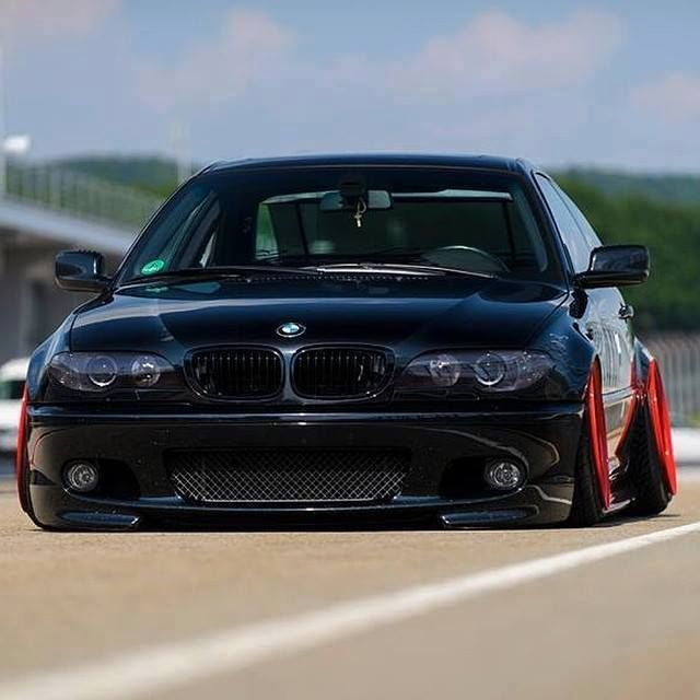 Bmw E46 M3 Black Slammed Stance Bmw E46 Sedan Bmw Series Bmw E46