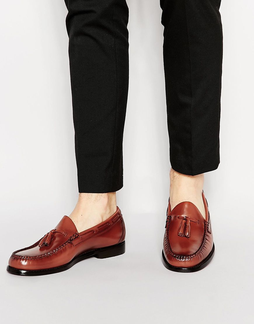 0c37a61fc62 You ll look great with this GH Bass Larkin Tassel Loafers - Brown - http