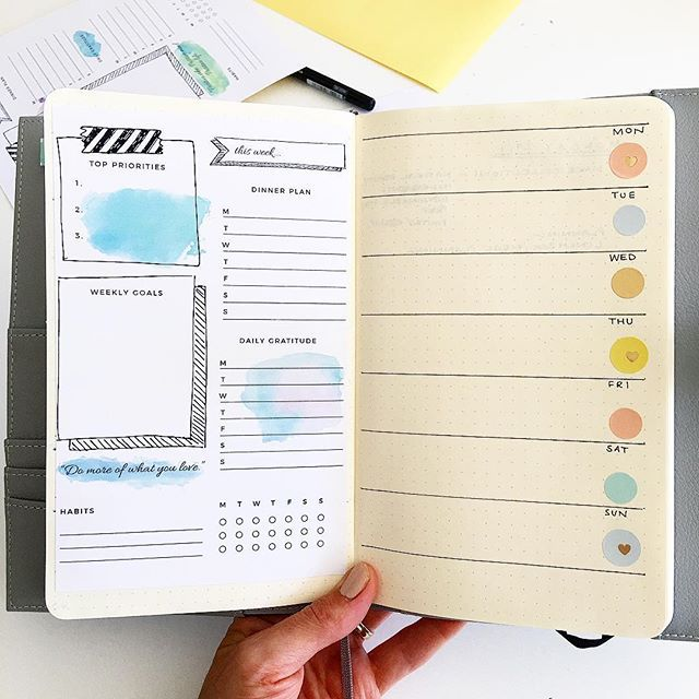 Organise Your Week With A Bullet Journal Weekly Log Free Template ...