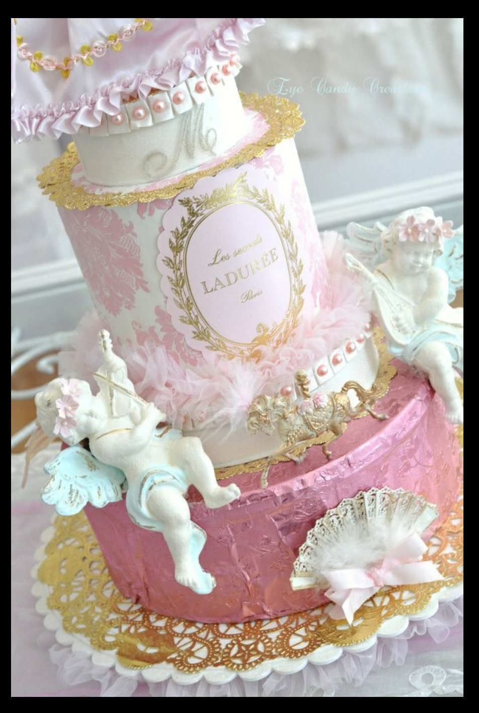 shabby chic bridal shower cakes%0A Ladur  e Cake for Wedding