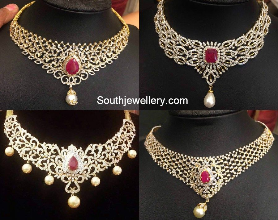 diamond_necklace_models.jpg (899×713) | diamond jewellery ...