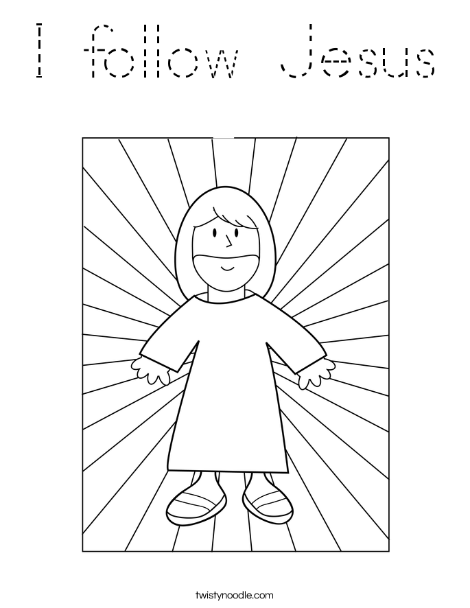 I Follow Jesus Coloring Page Jesus Coloring Pages Sunday School Coloring Pages Superhero Coloring Pages