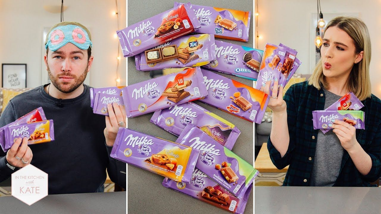 Milka Blind Fold Challenge In The Kitchen With Kate