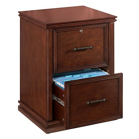 wide realspace premium wood file cabinet 2 drawers dark cherry rh pinterest com