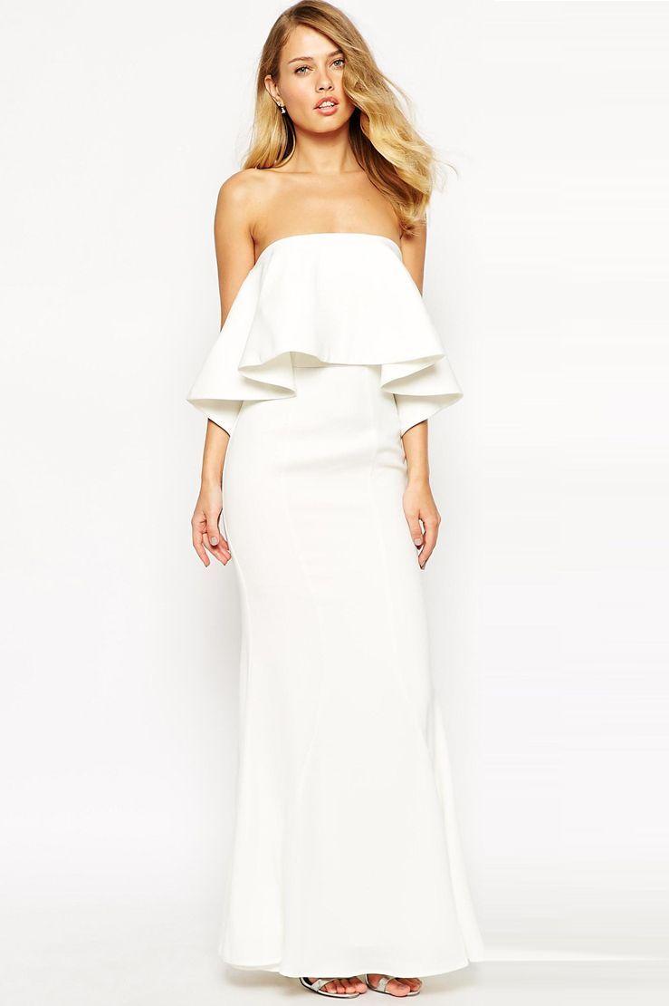 Cute wedding reception dresses for the bride   Stunning Wedding Dresses For The BeachBound Bride  Strapless