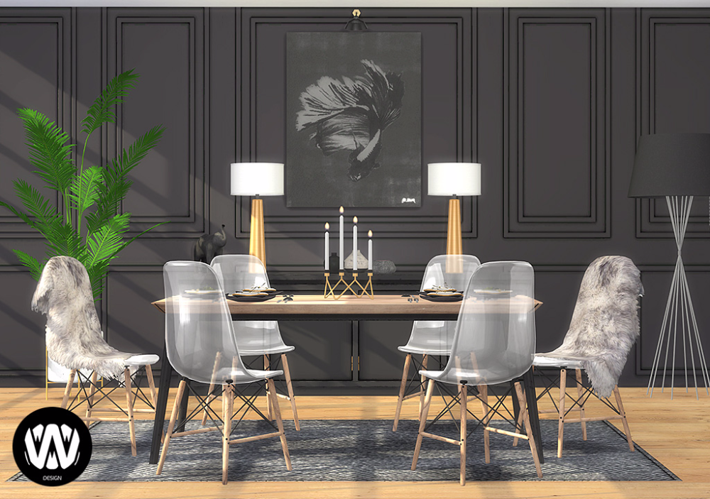 Thuja Dining Room Sims 4 Custom Content Wondymoon Sims 4 Kitchen Sims 4 Cc Furniture Sims