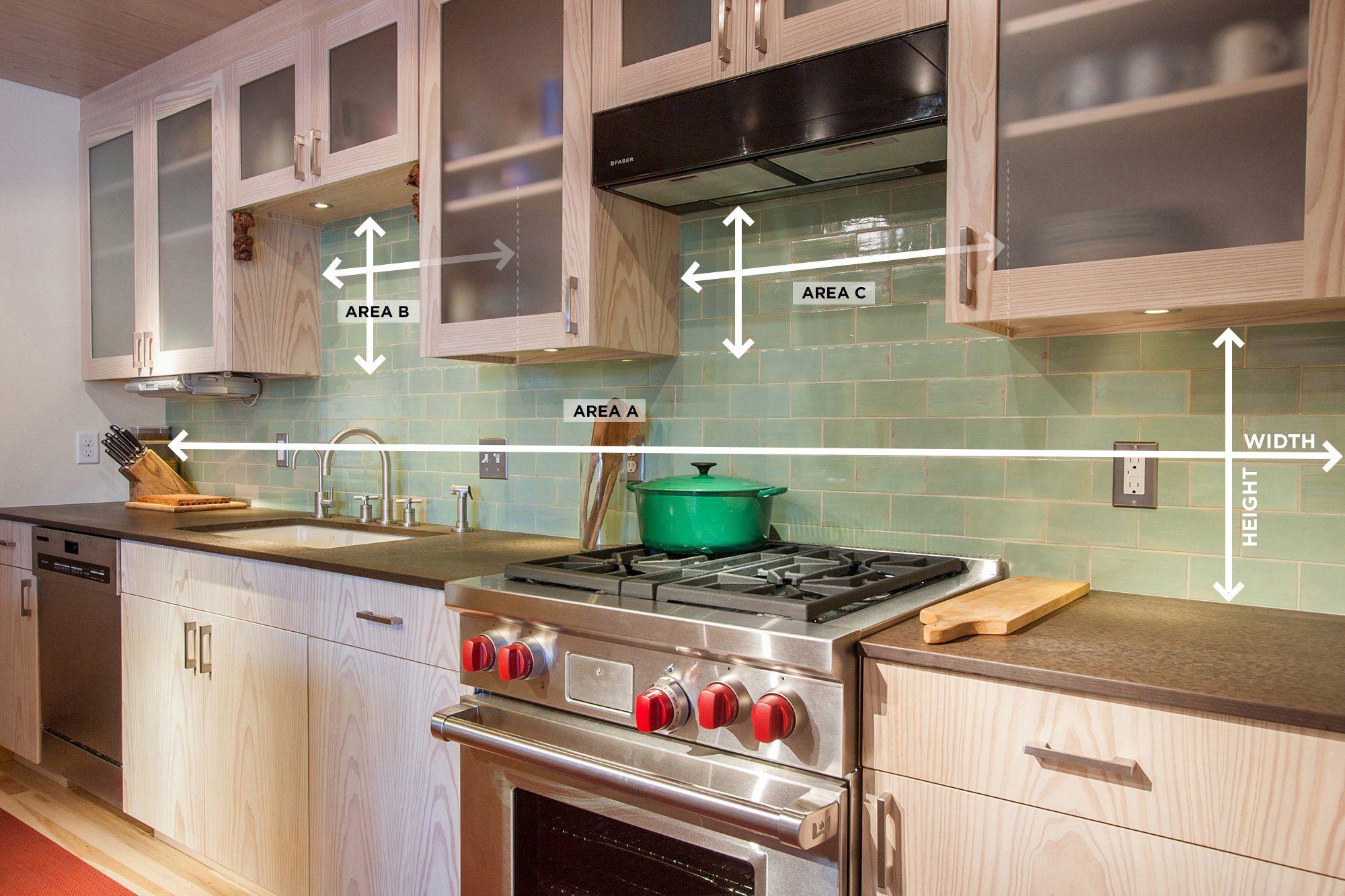 How to measure your kitchen backsplash handmade tile