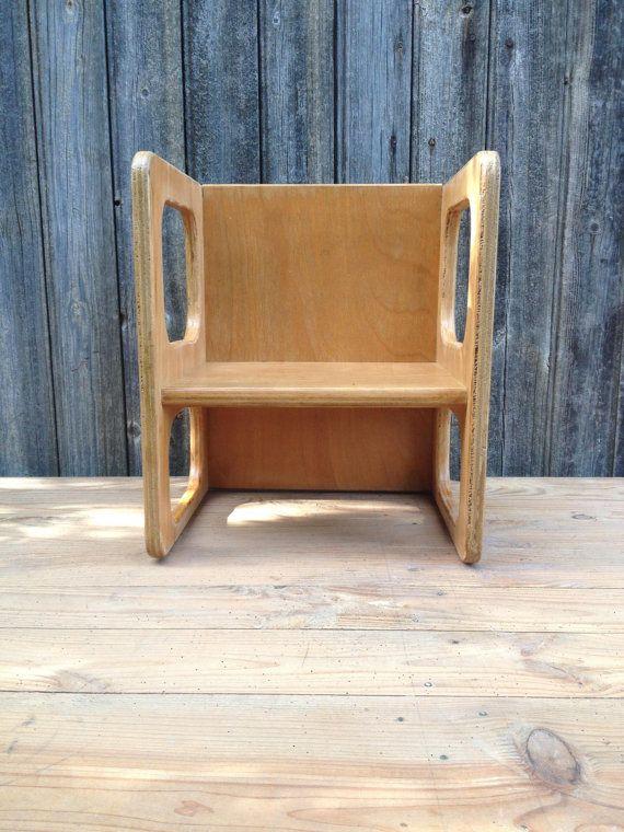 Chaise fauteuil enfant réversible par VINTAGEorangeBAZAR sur Etsy