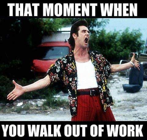 That Moment When You Walk Out Of Work Funny Pictures Humor Hilarious